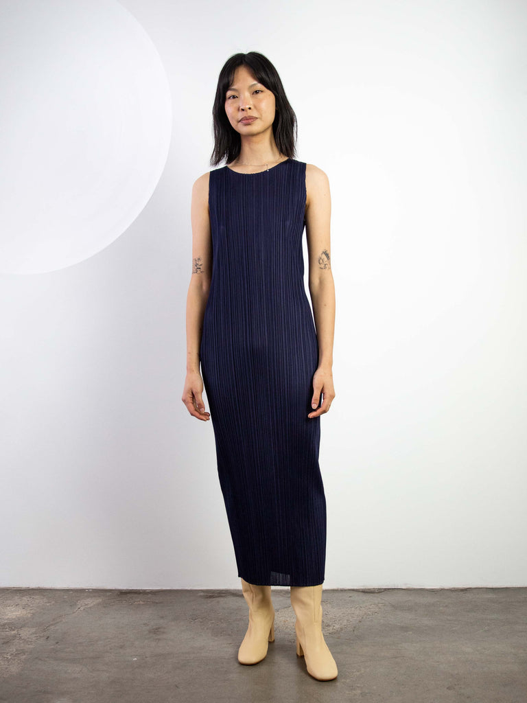 New Colourful Basics II Tank Dress - Navy