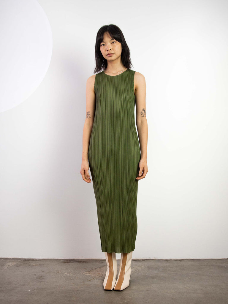 New Colourful Basics II Tank Dress - Khaki