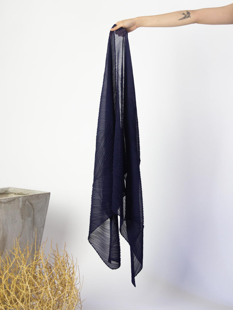 Colourful Scarf - Navy