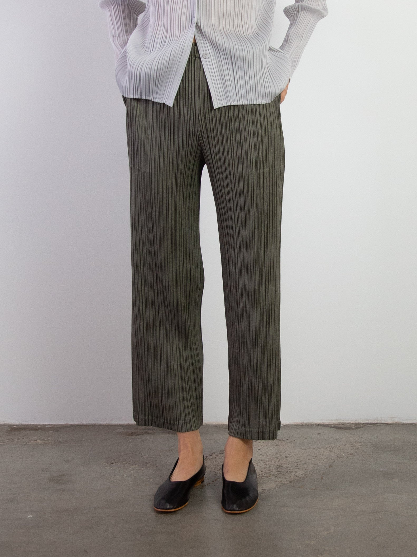 Thicker Bottoms II Straight Pants - Dark Olive