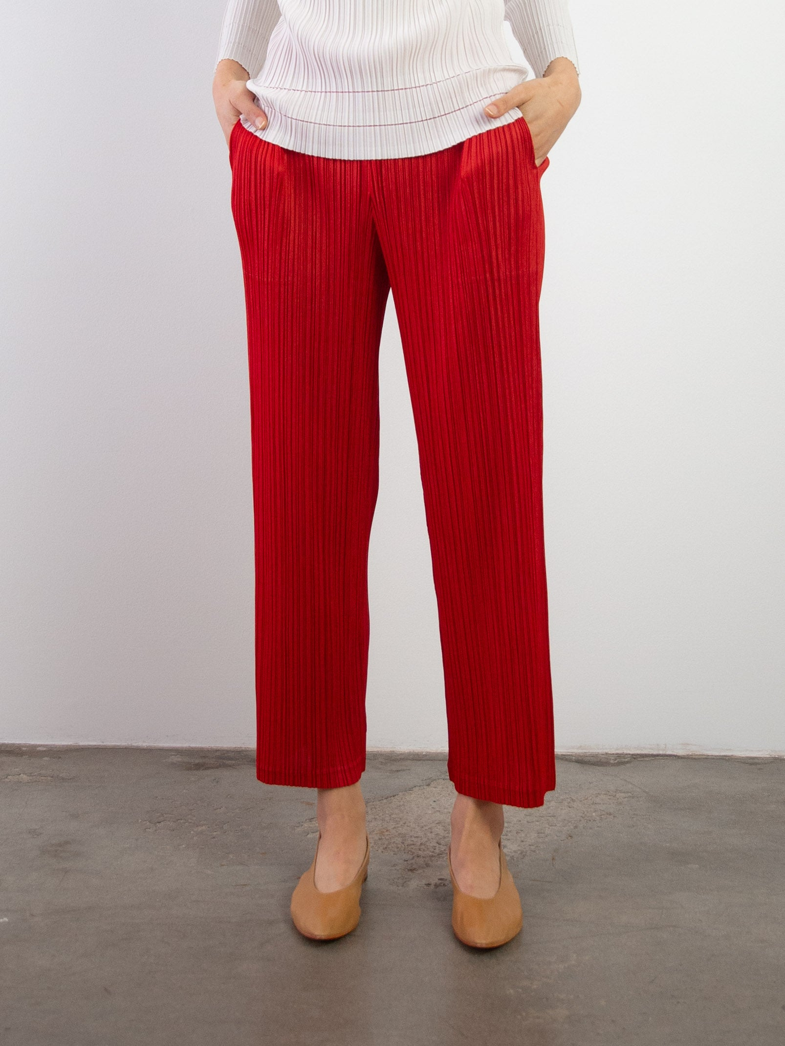 Thicker Bottoms II Straight Pants - Red