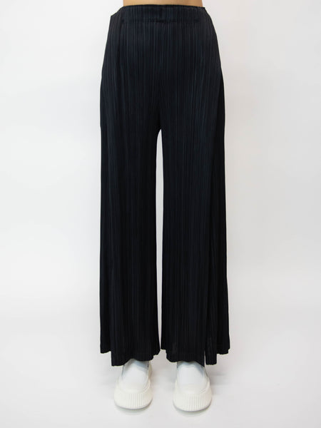 PLEATS PLEASE ISSEY MIYAKE Thicker Bottoms 2 Fold Wide Leg Pant - Black
