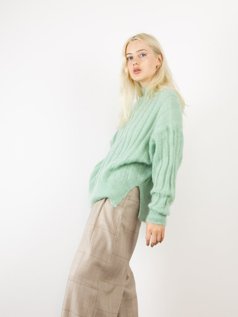 Makura Brushed Knit Sweater - Mint