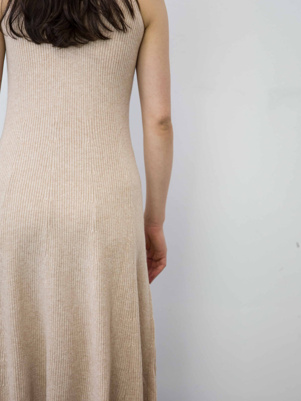 RYAN ROCHE Cashmere Ribbed Circle Dress