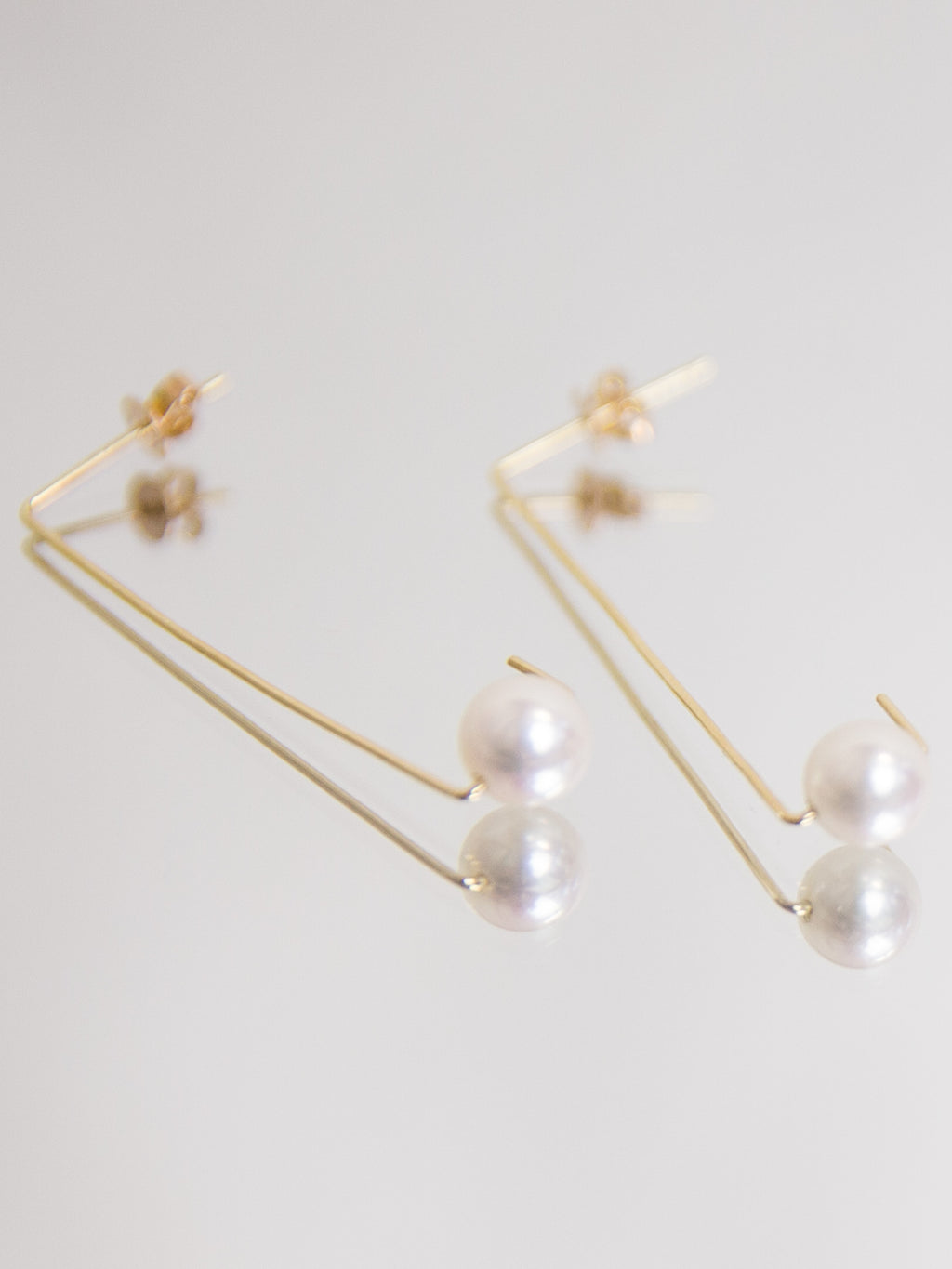 SPHERE JEWELLERY Akoya G Shaped Earrings Large