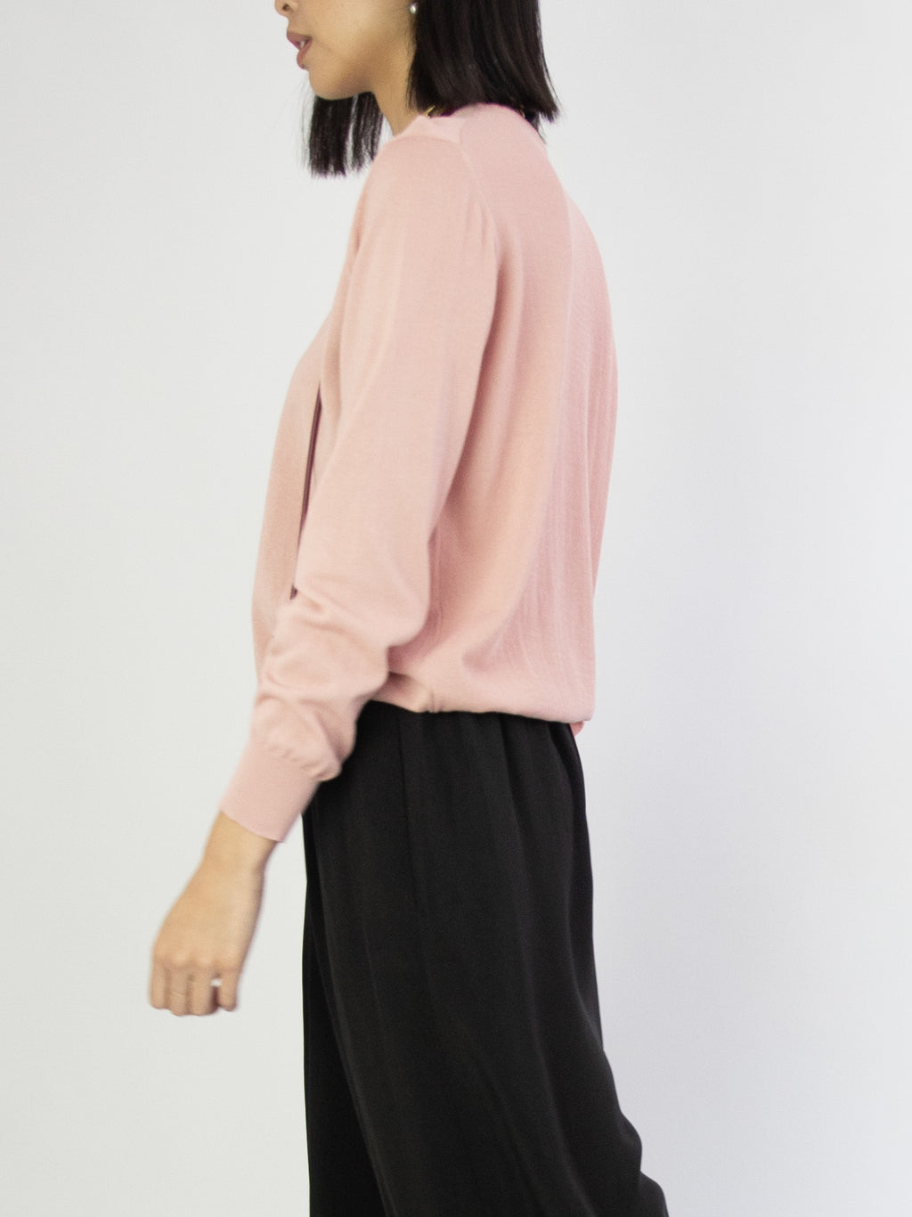 Fine Knit Pullover - Pink