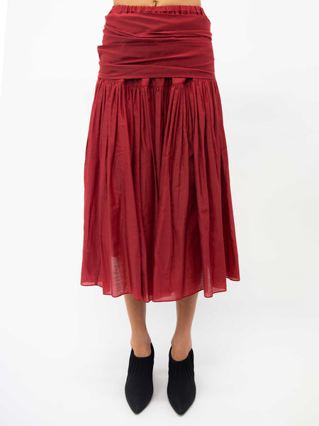 SARA LANZI Wrap Skirt - Red