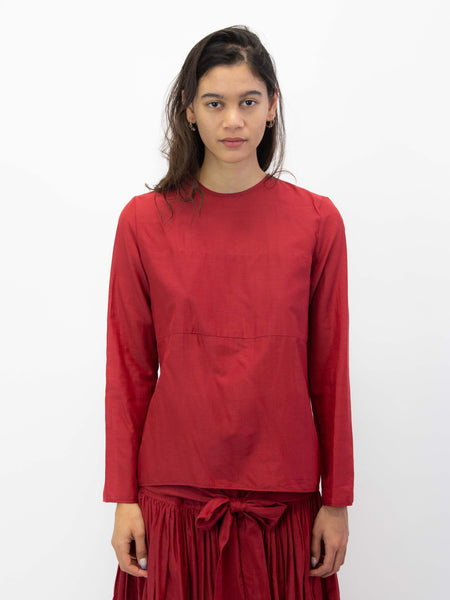 SARA LANZI Simple Blouse - Red