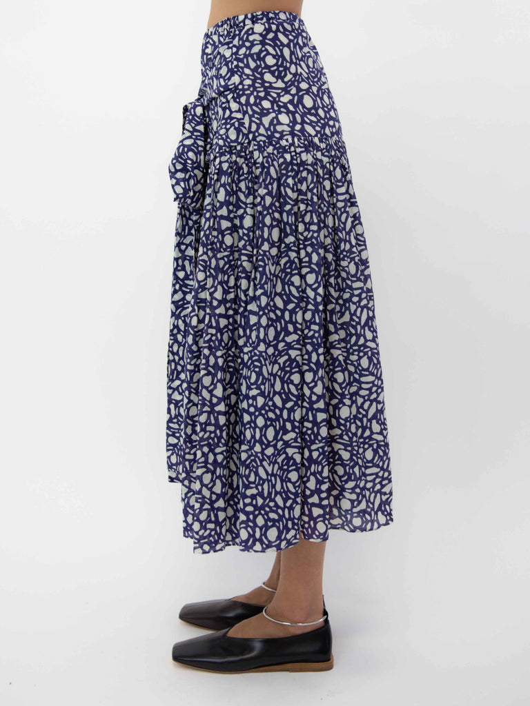 Wrap Skirt - Snakestone Blue