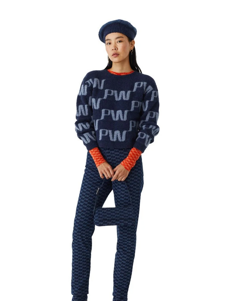 Windows Soft PW Monogram Knit - Blue