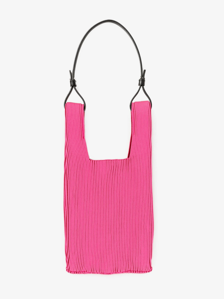 Two Tone Market Bag - Neon Pink and Bordeaux