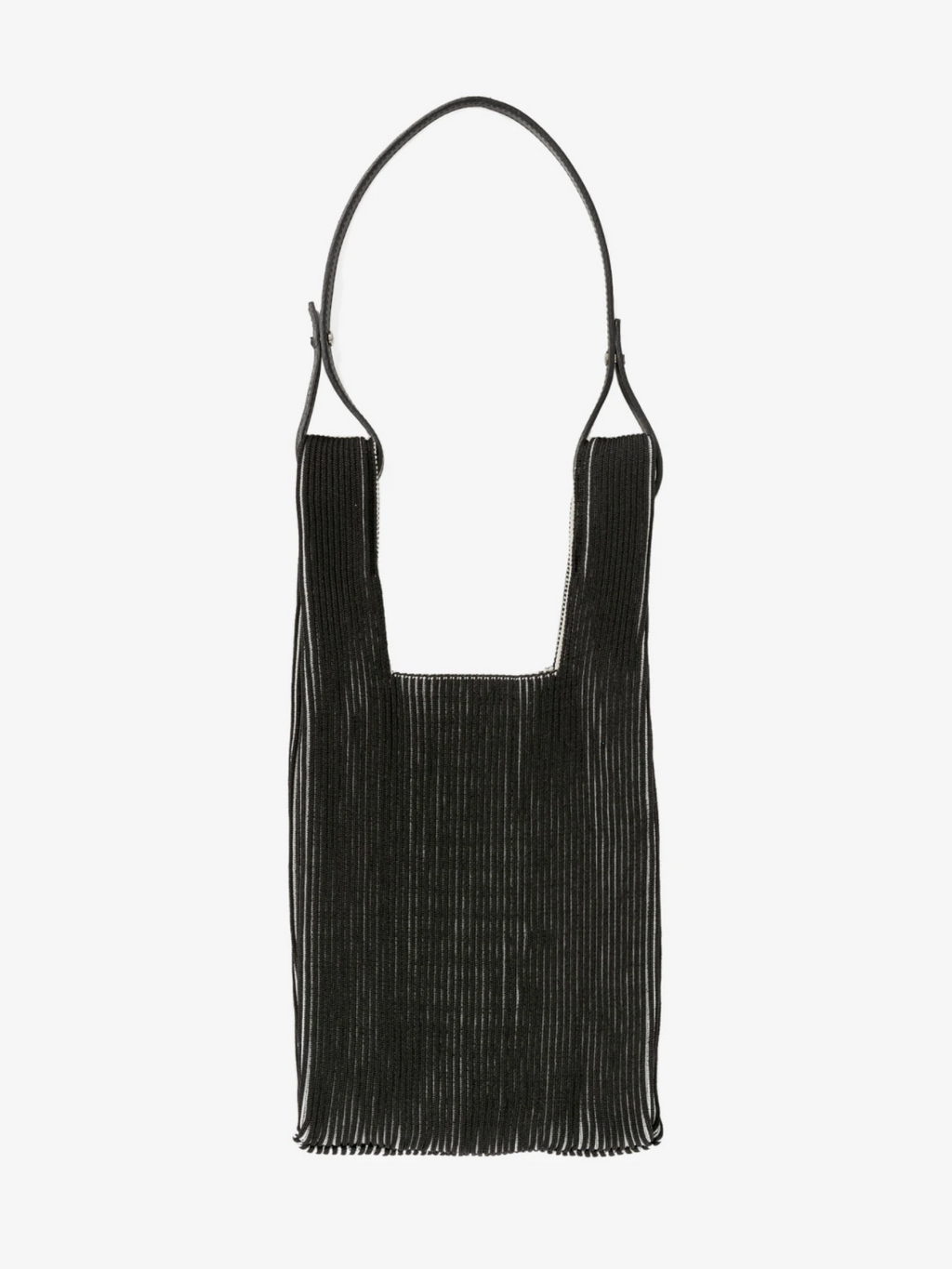 Two Tone Market Bag - Black and Ivory