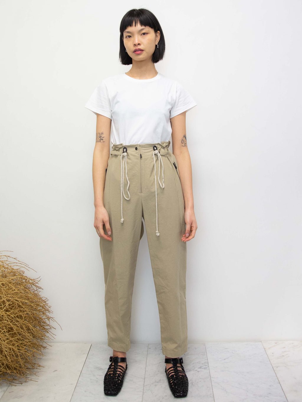 Waist Tie Oxford Pants
