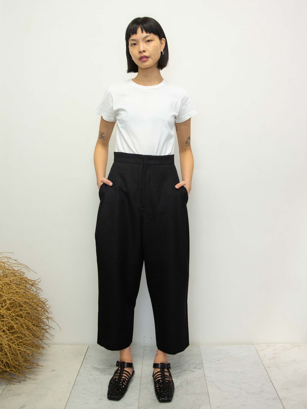 Y's Tailored Cocoon Pants