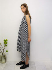 Double Cloth Distressed Gingham Dress