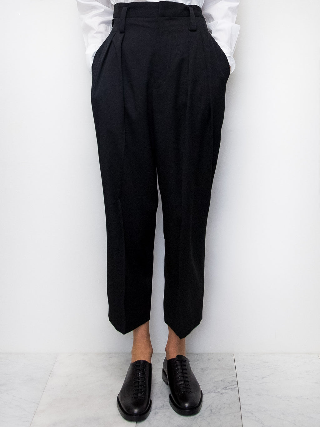 Y's Belt Detail Wool Pants