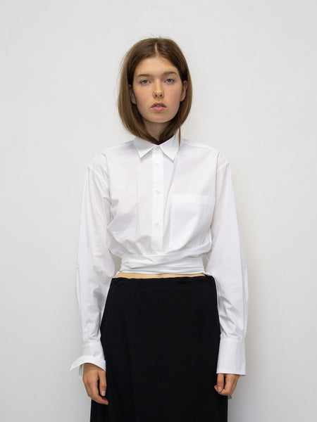 Y's Tie Front Cotton Shirt