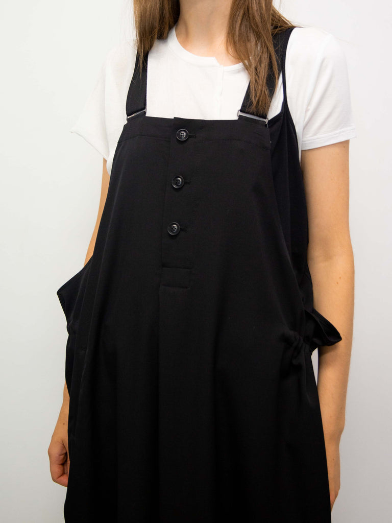 Y's Side String Wool Overall Dress