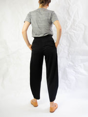 Tapered Wool Panel Pants