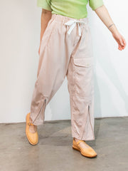 Draw Waist Pocket Pants - Light Pink