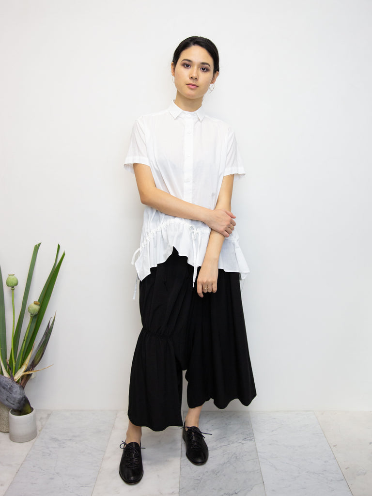 Y'S Asymmetric Gathered Culottes