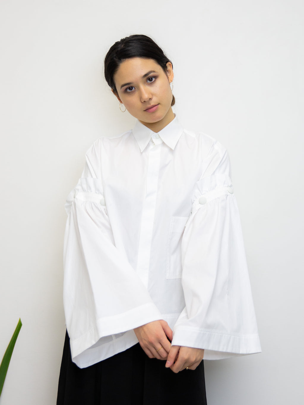 Y'S Detachable Sleeve Shirt