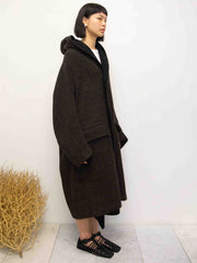 Double Face Hood Wool Coat