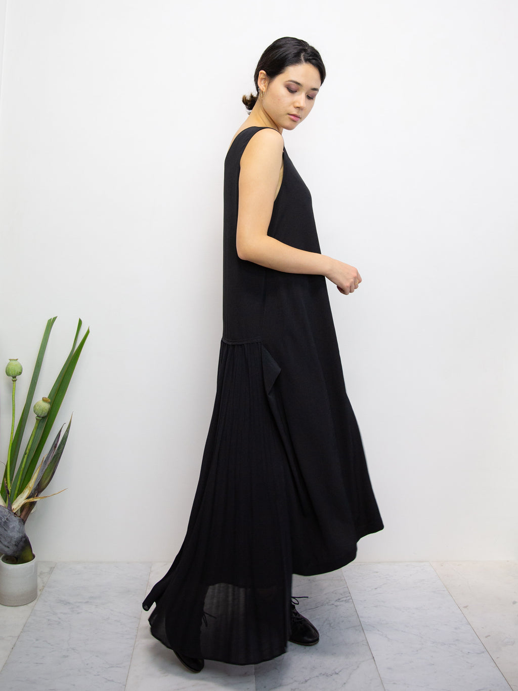 Y'S Pleated Skirt Dress