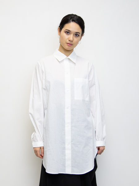 Y'S Shirt with Gathered Sleeve Detail