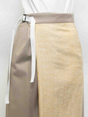 Tie Wrap Wool Silk Pants