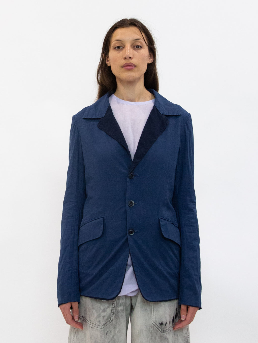 Y's Cotton Linen Tailored Jacket