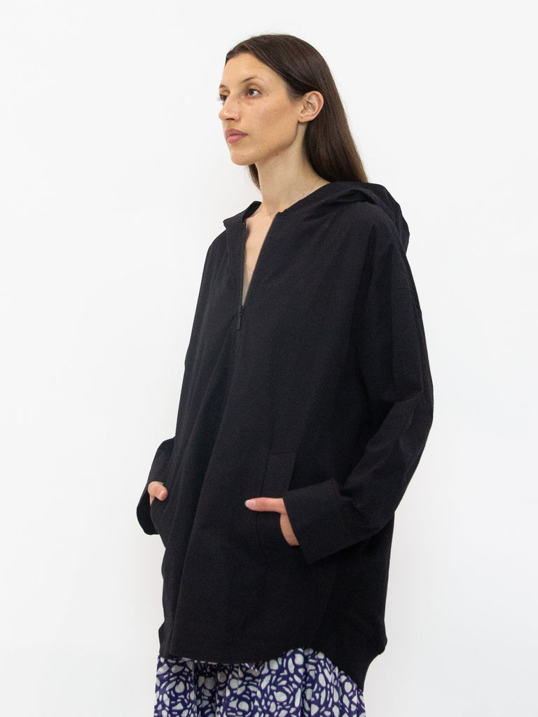 Zip Front Oversized Jumper with Hood