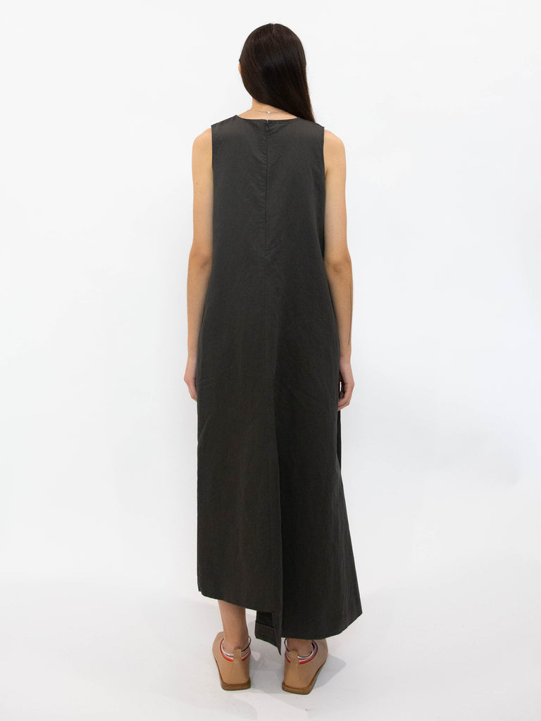 Cotton Linen Wrap Around Layered Dress