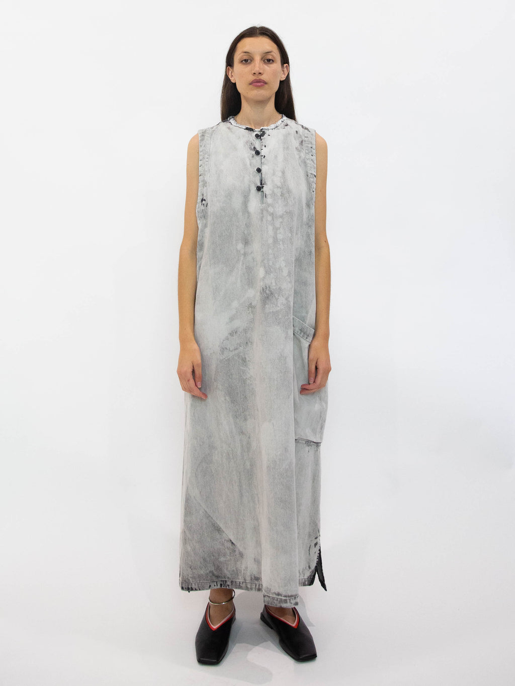 Bleached Denim Dress