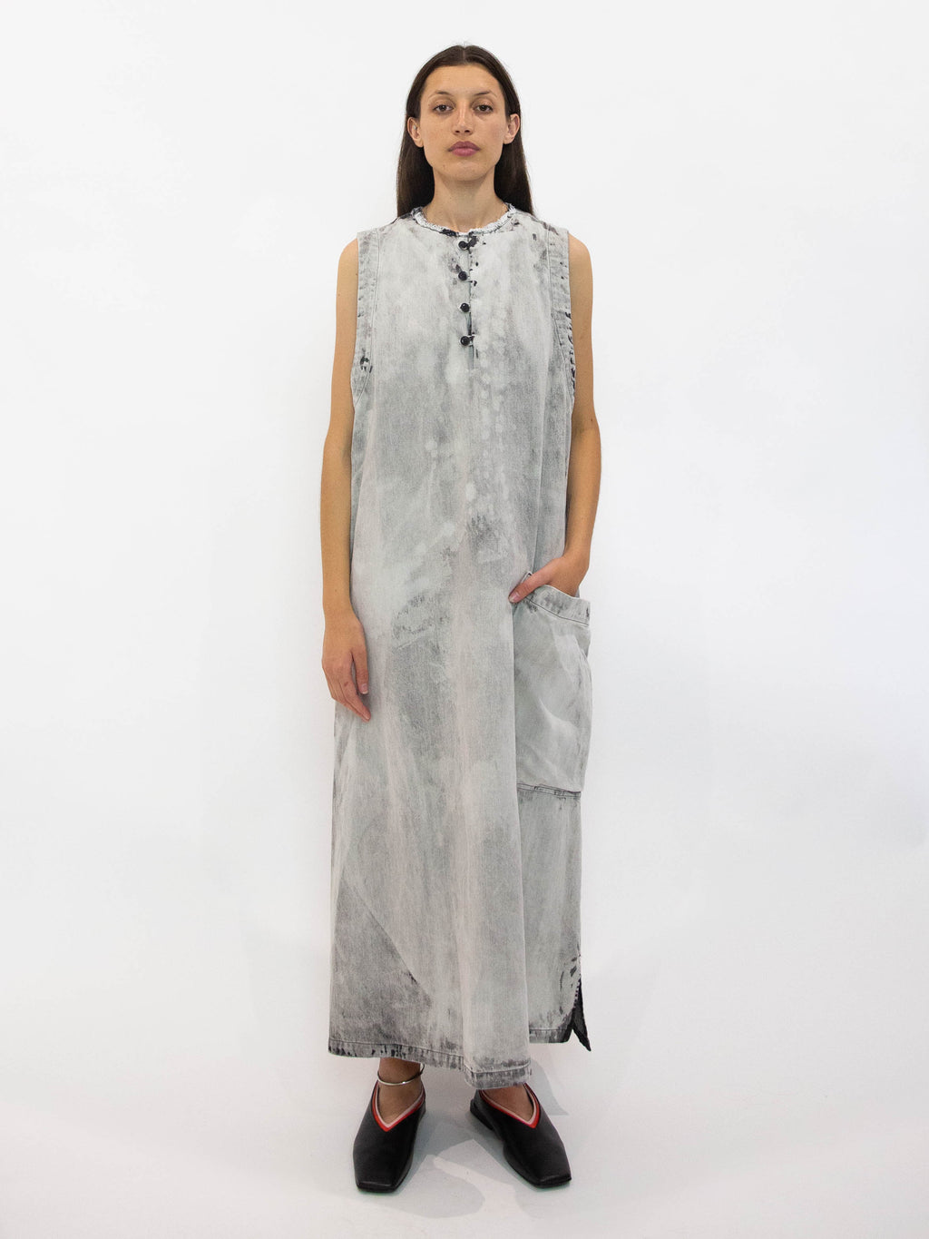 Y's Bleached Denim Dress