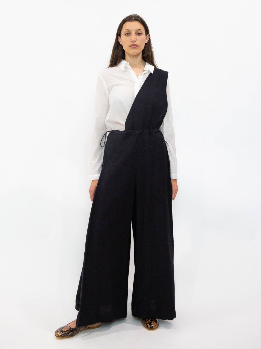 Y's Asymmetric One Shoulder Overalls