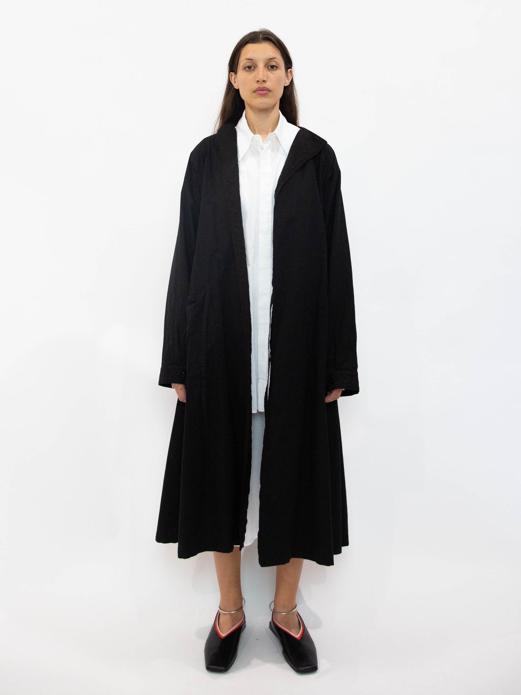Y's Cotton Linen Gown Coat