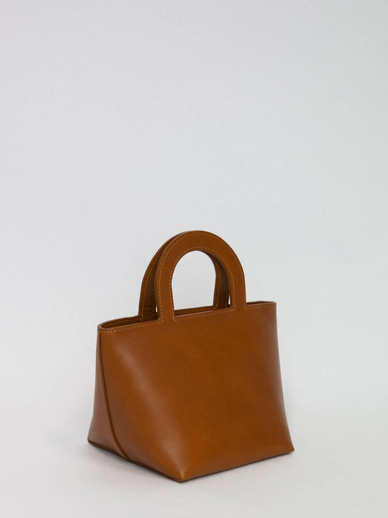 BUILDING BLOCK Tiny Stencil Bag - Chestnut