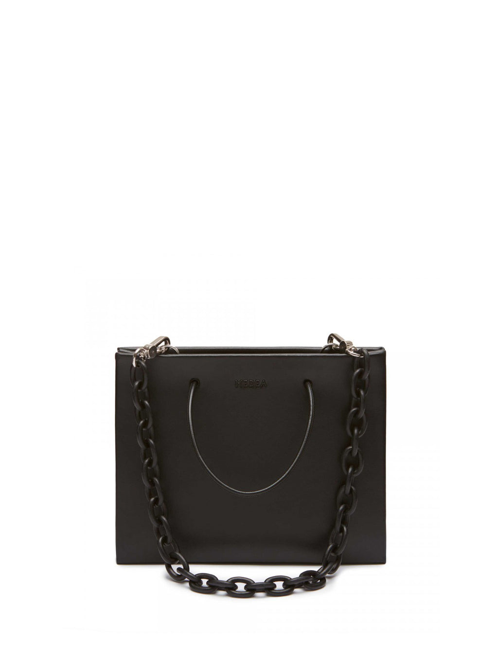 Hanna Leather Chain Bag - Black