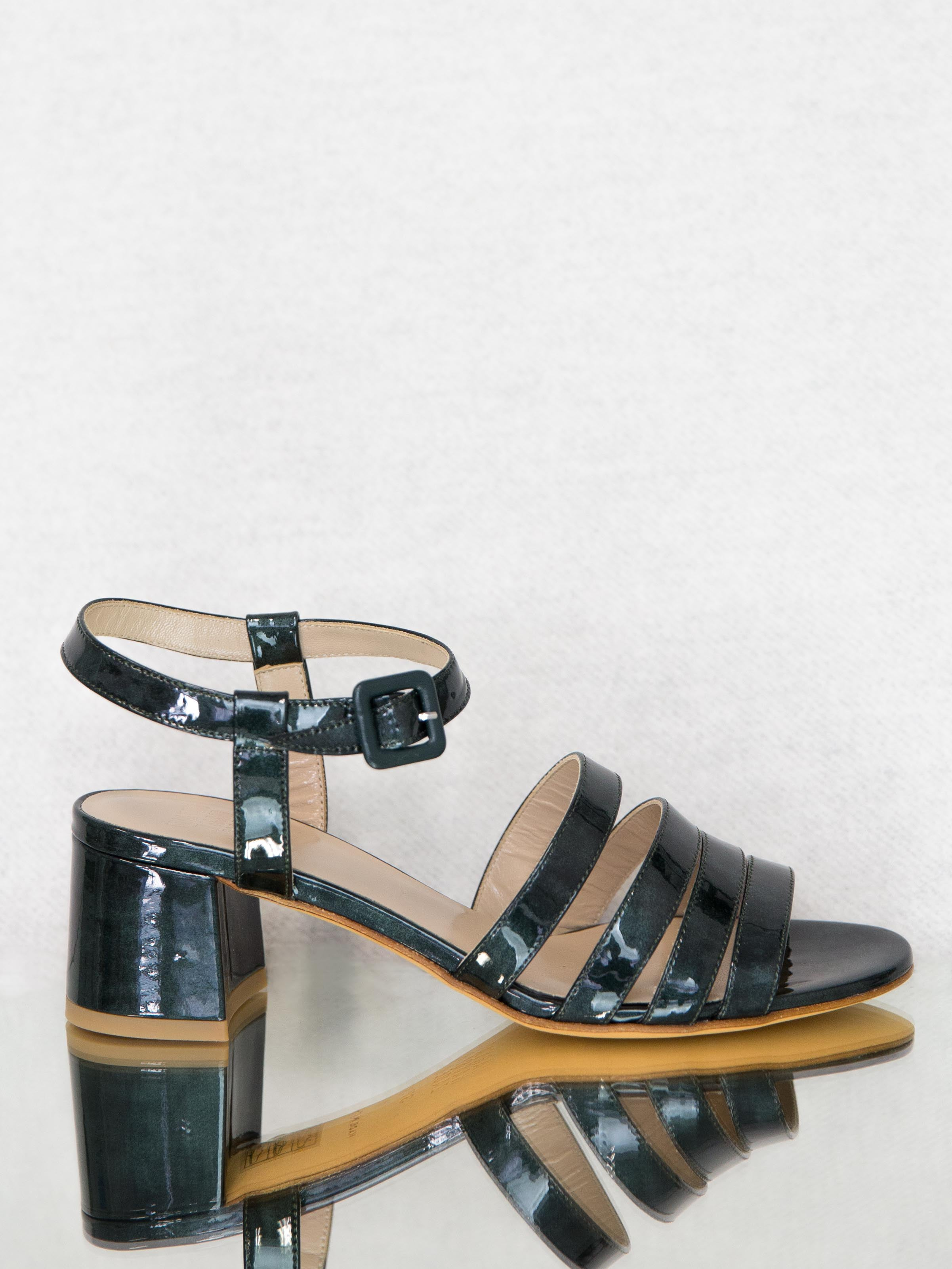 MARYAM NASSIR ZADEH Palma Low Sandal - Dark Emerald
