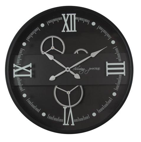 59 Cm  White Chuming Process Moving Gear Wall Clock (Coming Soon)