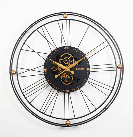 QUARTZ 90.5 Cm Moving  Gear Wall Clock