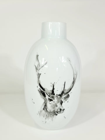 Large Handpainted Vase-Deer (Big sale till end of Feb)