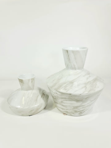 Large Modern Solid Carrara Marble Vase (Big sale till end of Feb)