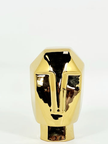 Geometric Face Sculpture: Sunset Gold (Big sale till end of Feb)