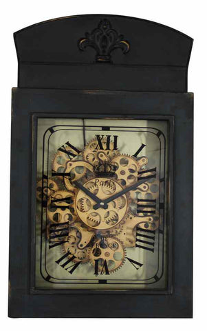 Large Old Town Square Paris De France Gear Wall Clock.