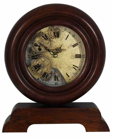 Champs Elysee France Antique Wooden Gear Table Clock (price reduced)