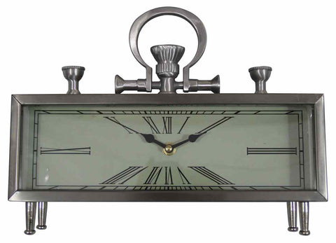 Silver Rectangle Table Clock