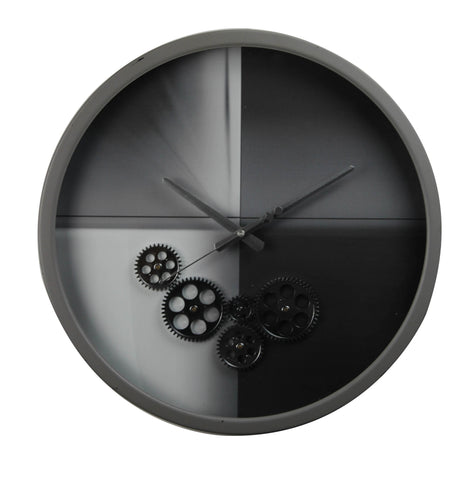 Modern 46 Cm Moving Gear Wall Clock