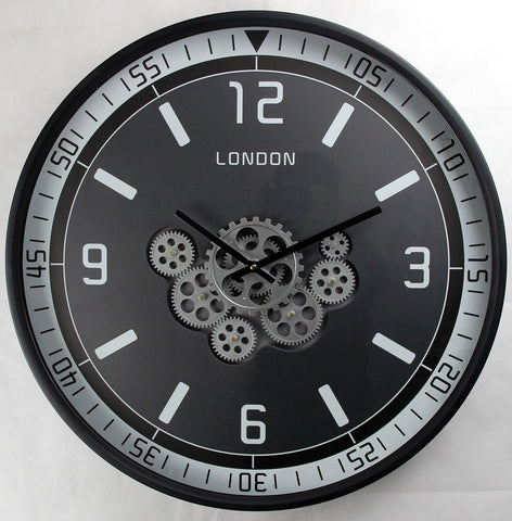 London Classic 59.5 Cm Moving Moving Gear wall clock